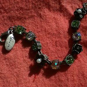 Guess Vintage Crystal and Floral Bracelet